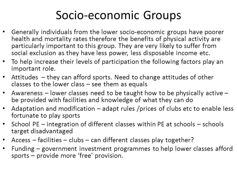 Socio-economic Groups