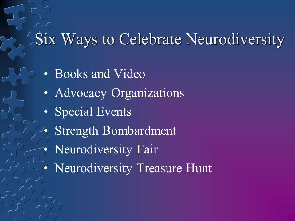 Six Ways to Celebrate Neurodiversity
