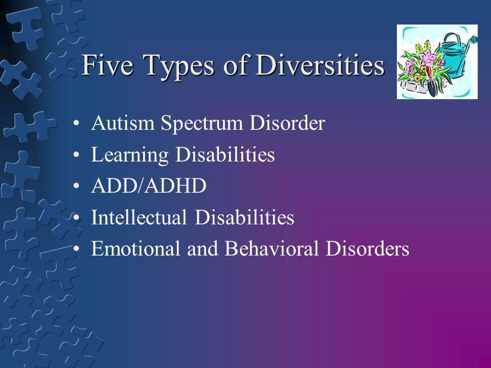 Five Types of Diversities