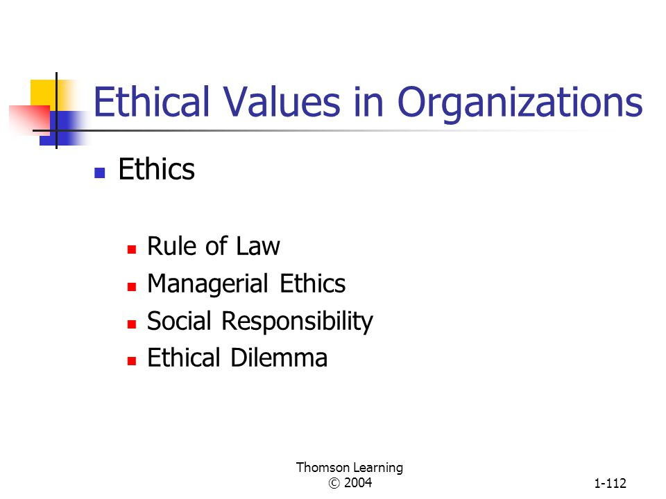 Ethical Values in Organizations
