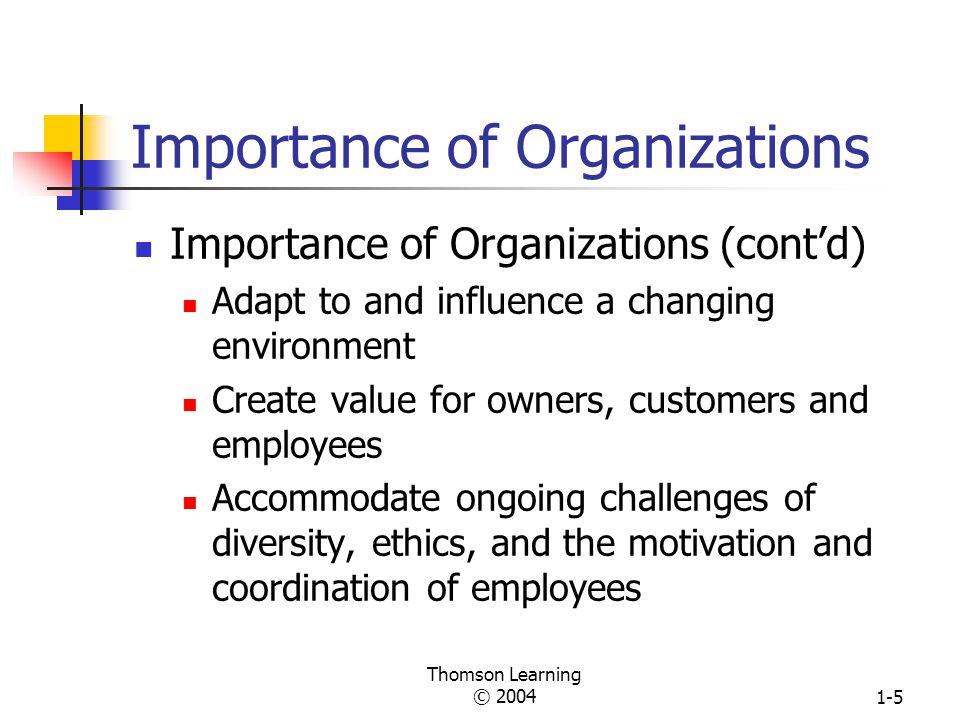 Importance of Organizations