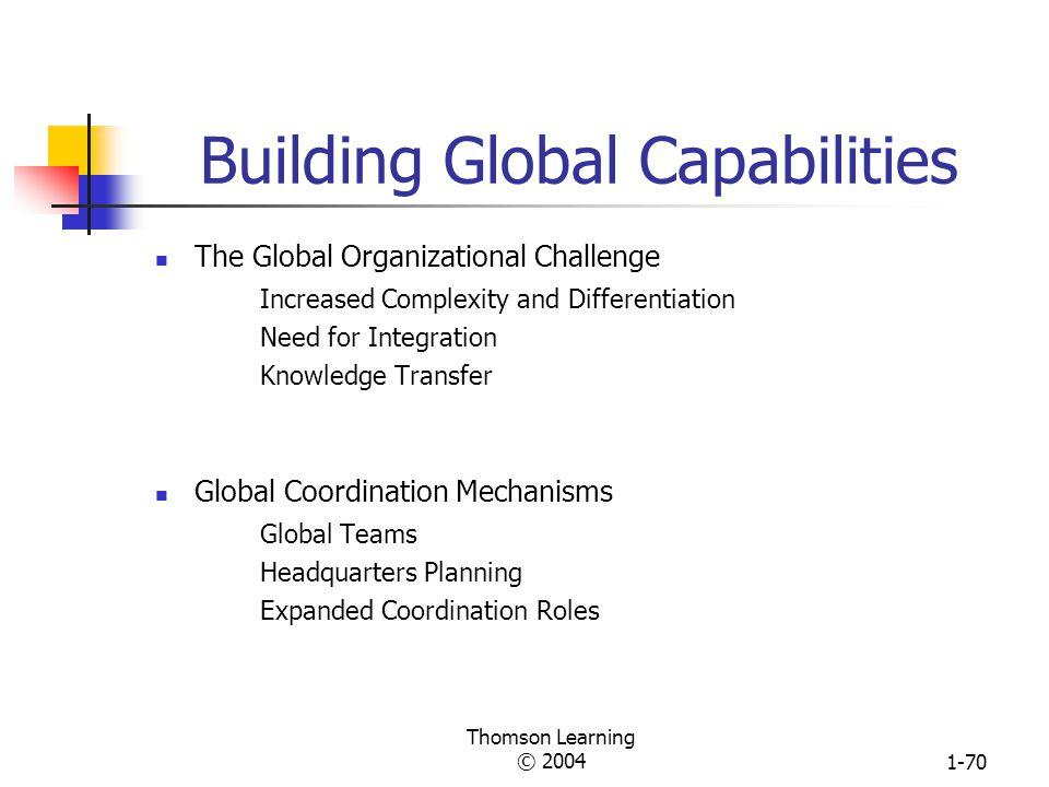 Building Global Capabilities