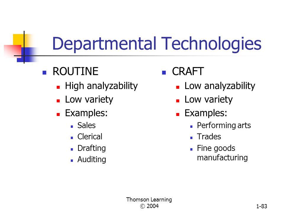 Departmental Technologies