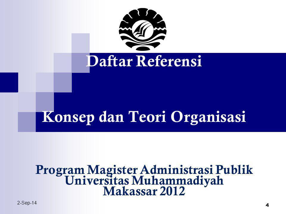 Konsep dan Teori Organisasi