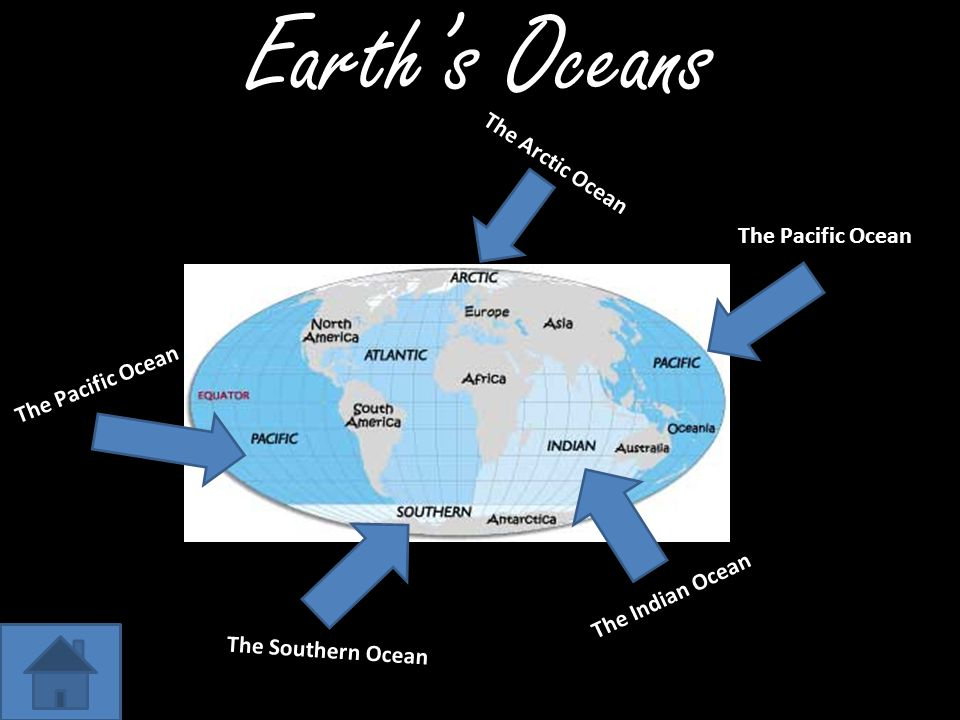 Earth's Oceans The Arctic Ocean The Pacific Ocean The Pacific Ocean