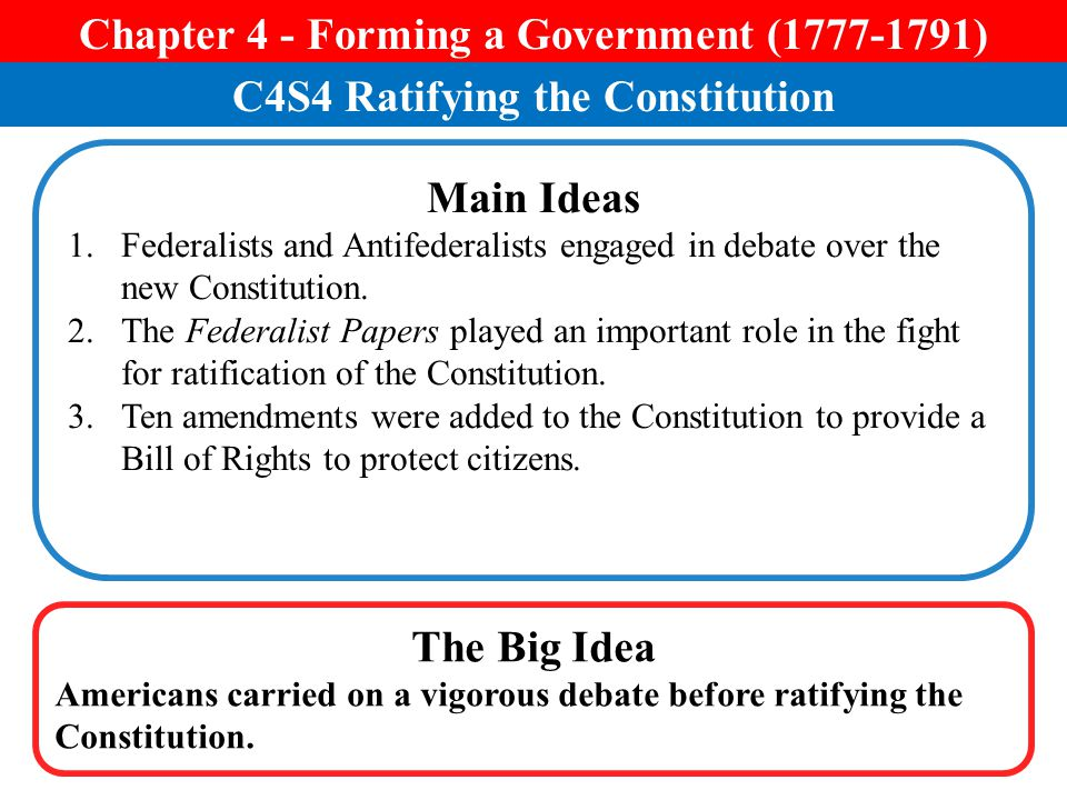 Chapter 4 - Forming a Government ( )