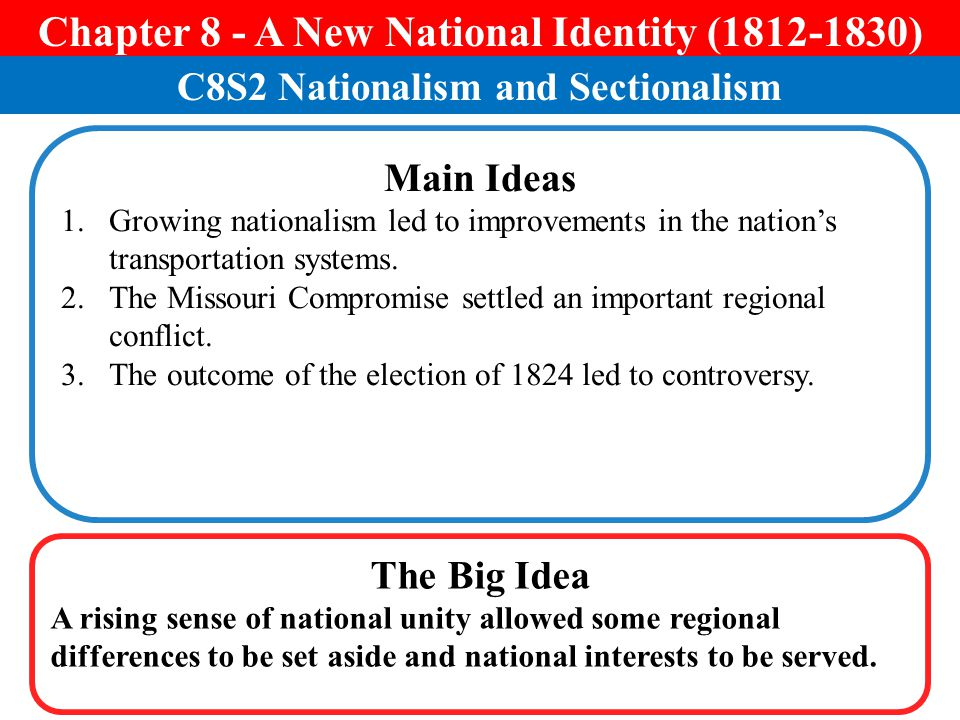 Chapter 8 - A New National Identity ( )