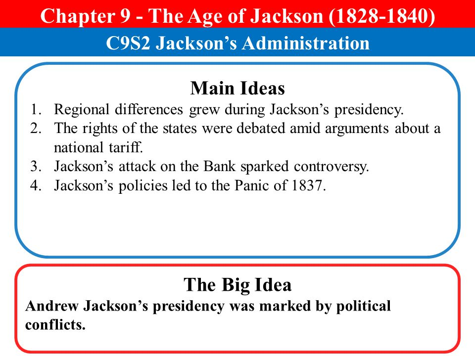 Chapter 9 - The Age of Jackson (1828-1840)