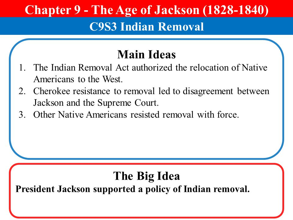 Chapter 9 - The Age of Jackson ( )