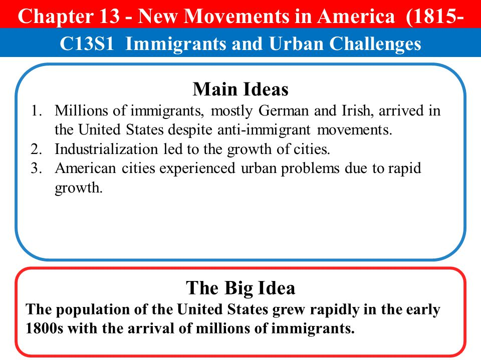 Chapter 13 - New Movements in America ( )