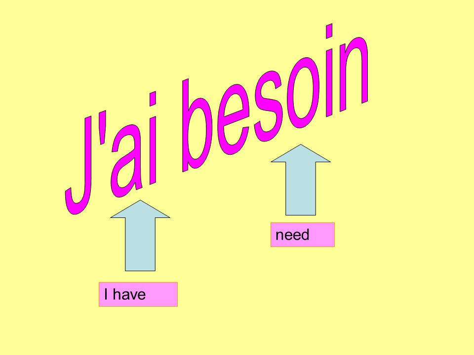 J ai besoin need I have