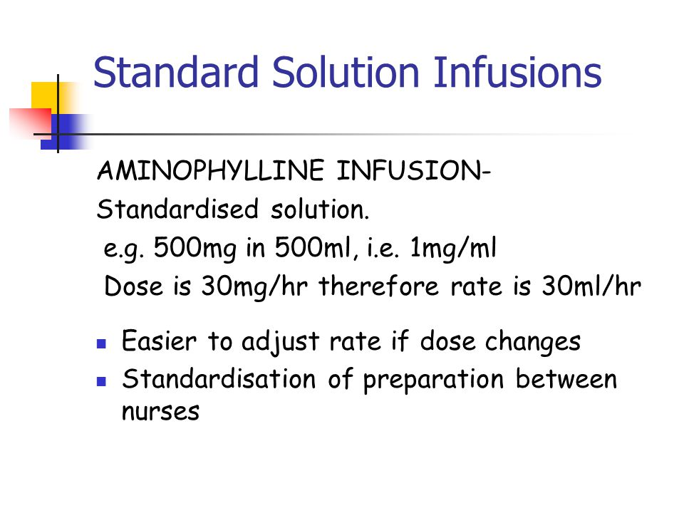 Standard Solution Infusions