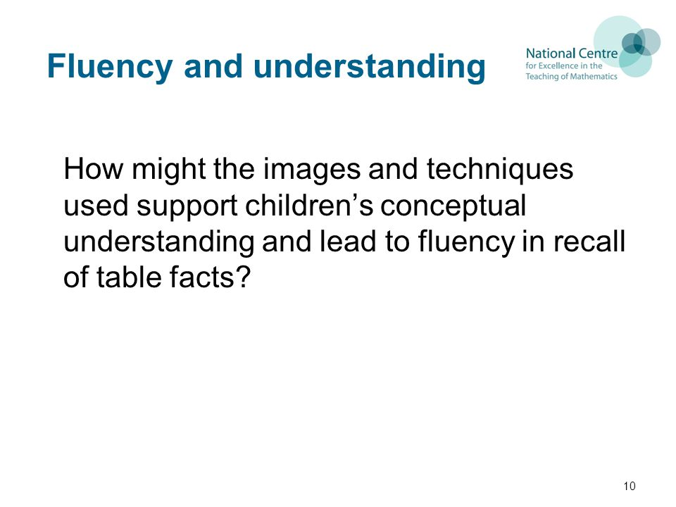 Fluency and understanding