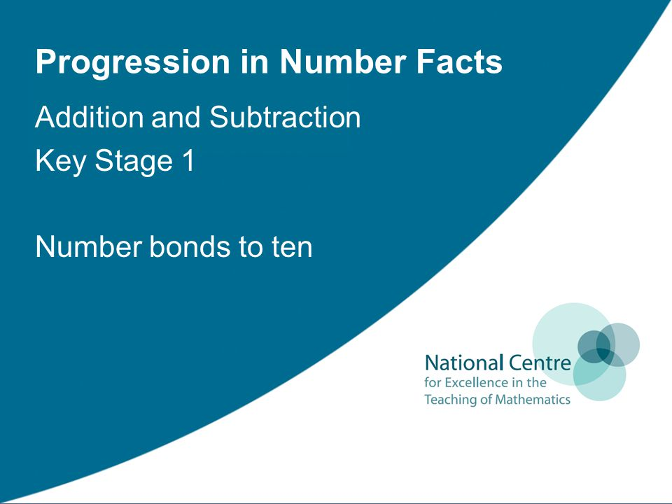 Progression in Number Facts