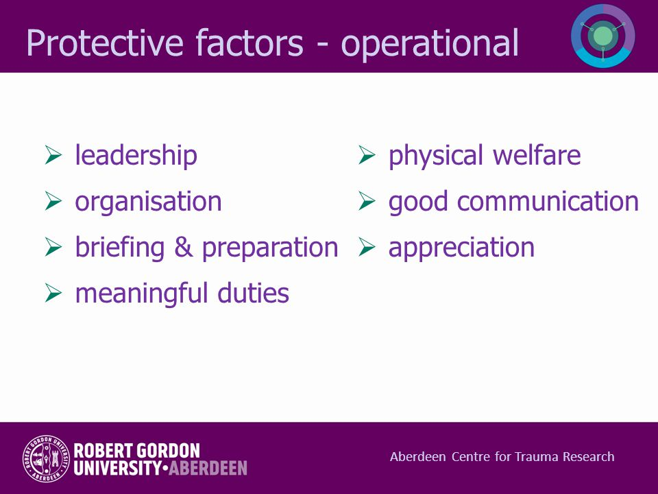 Protective factors - operational