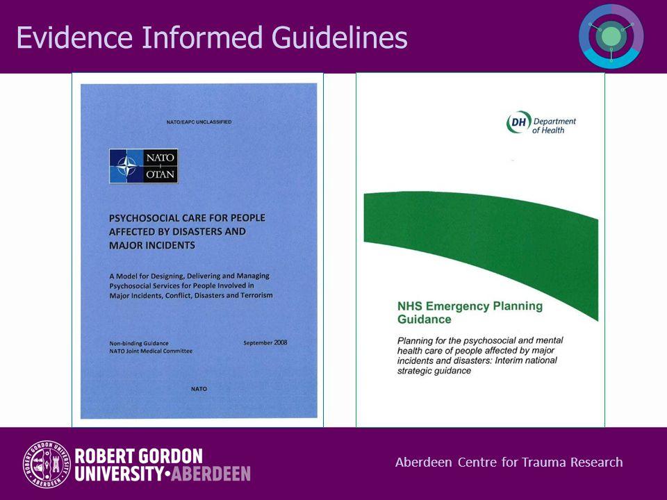 Evidence Informed Guidelines