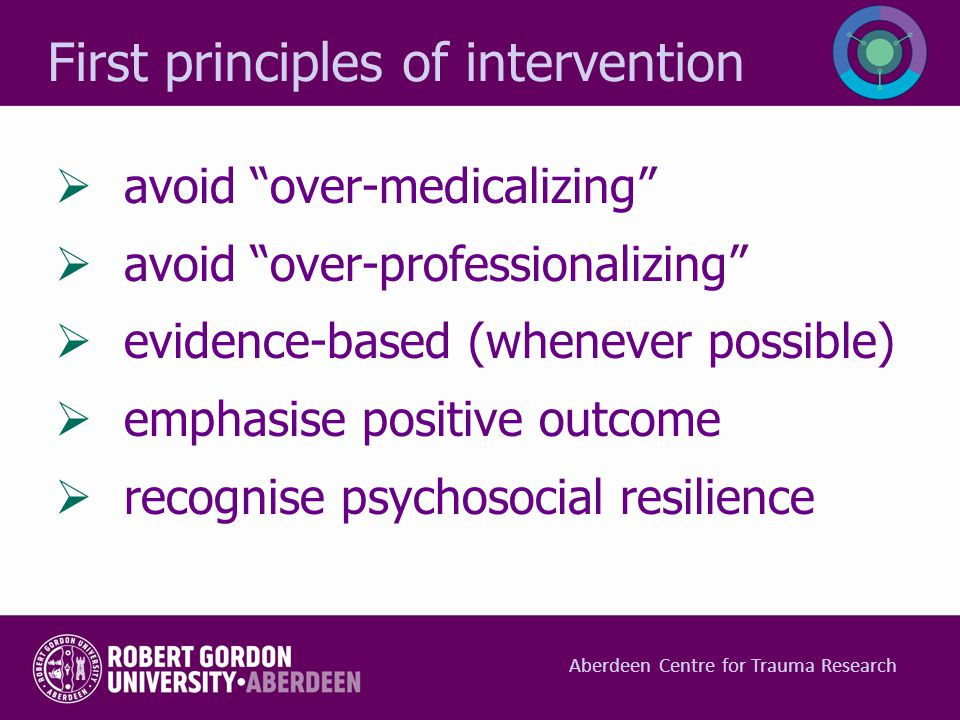 First principles of intervention