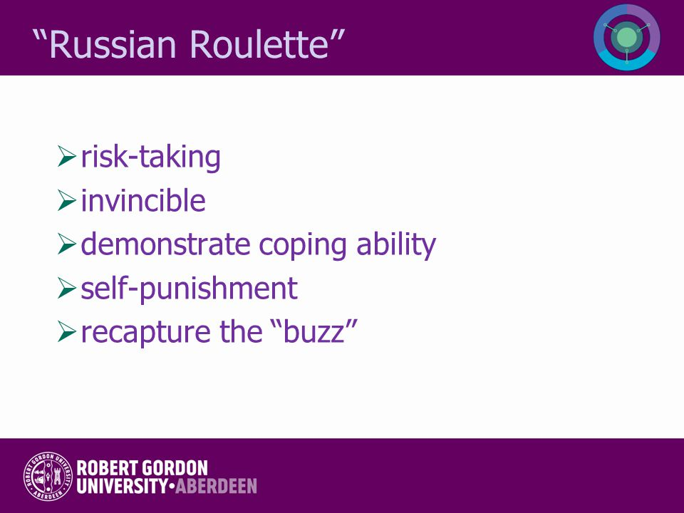 Russian Roulette risk-taking invincible demonstrate coping ability