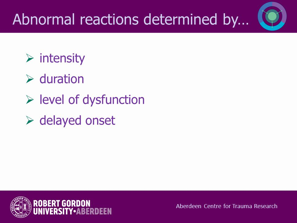 Abnormal reactions determined by…