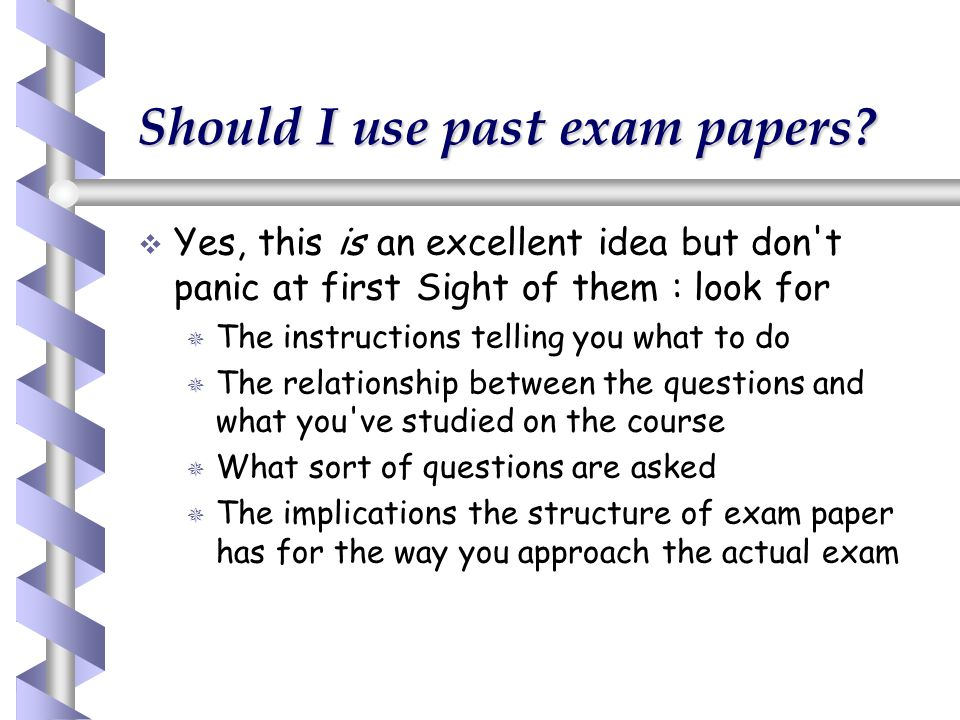Should I use past exam papers