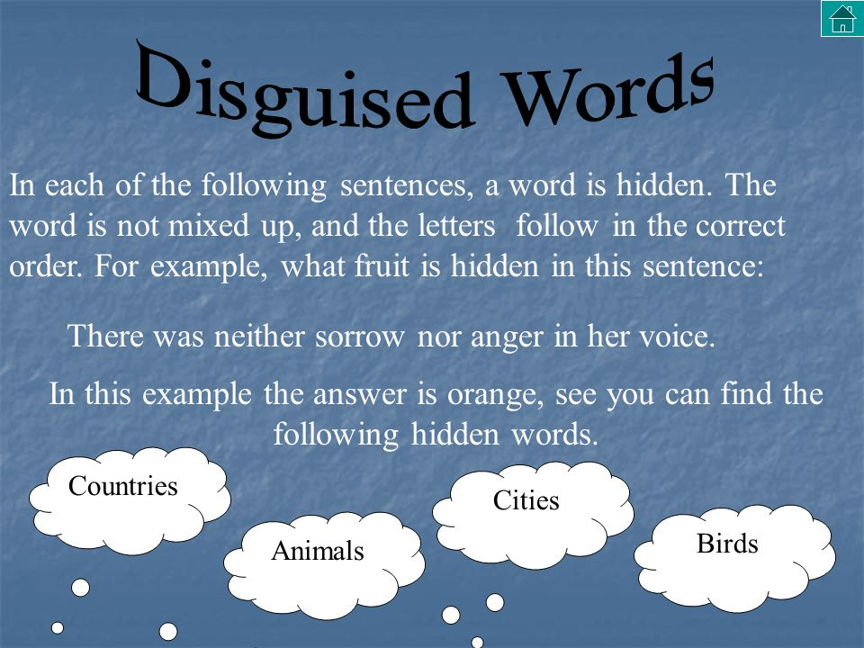 Disguised Words