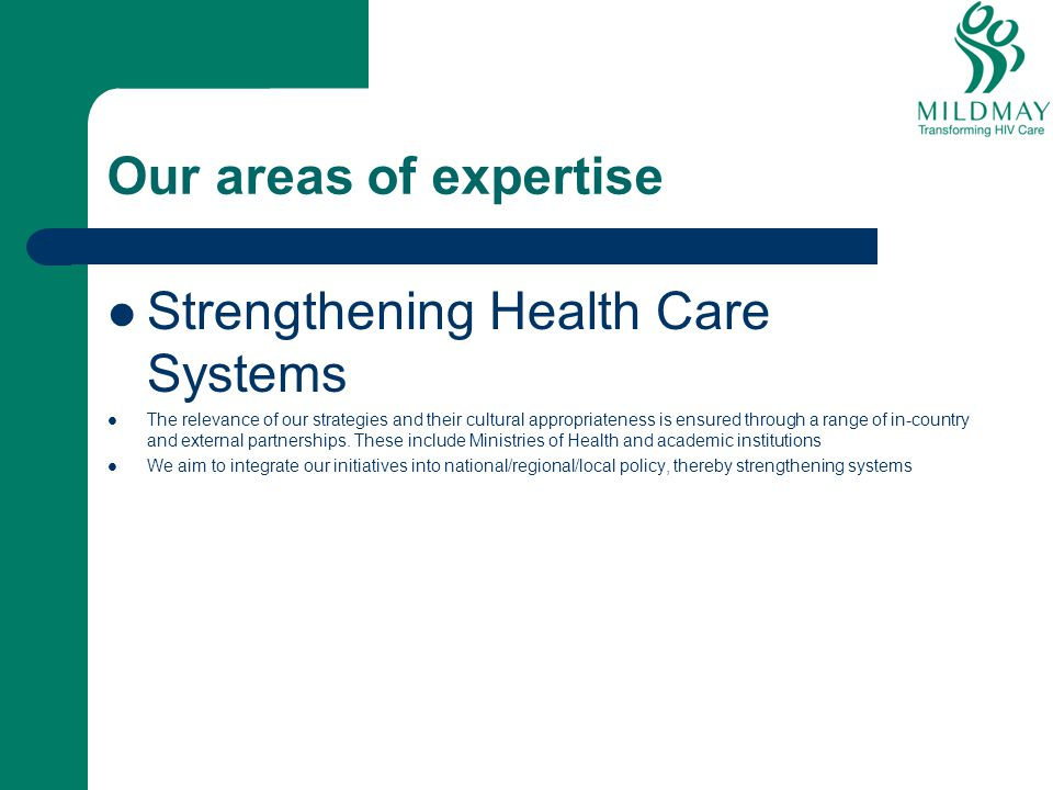 Strengthening Health Care Systems