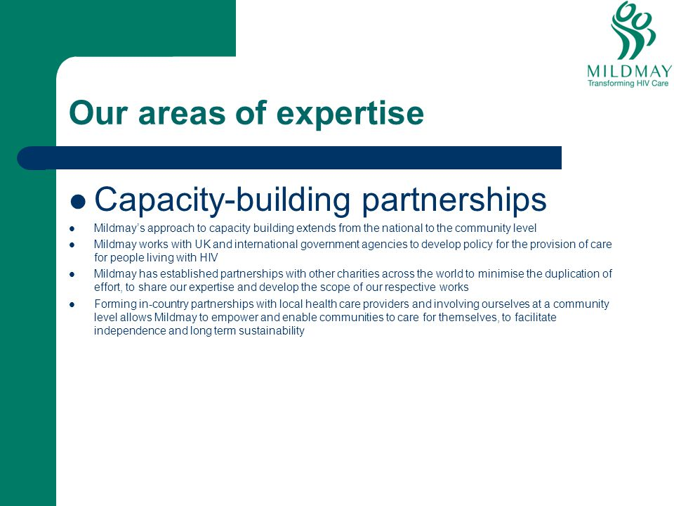 Capacity-building partnerships