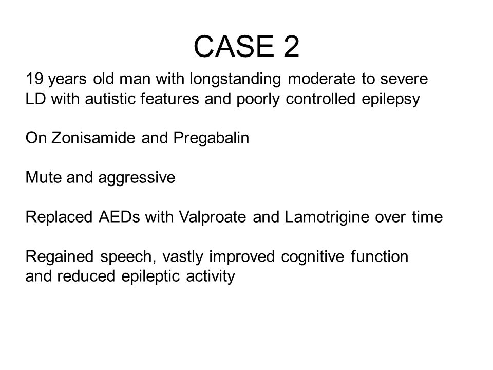 CASE 2 19 years old man with longstanding moderate to severe