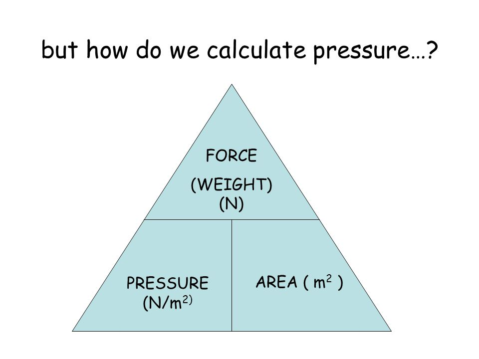 but how do we calculate pressure…