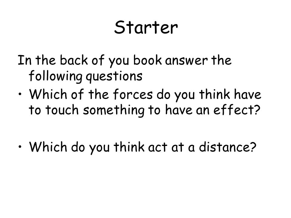 Starter In the back of you book answer the following questions