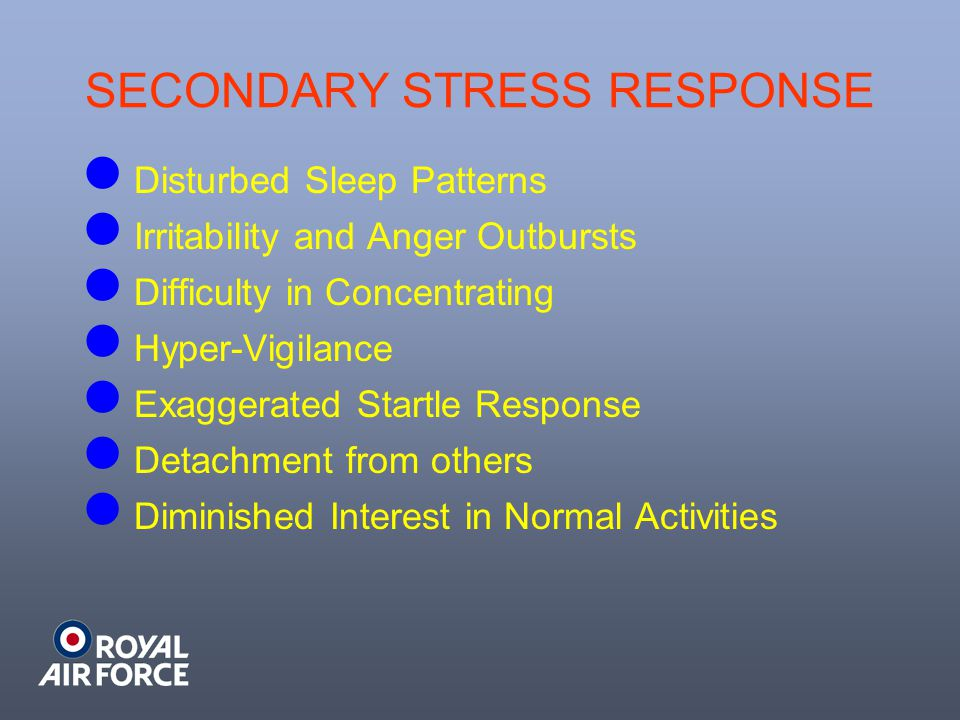 SECONDARY STRESS RESPONSE