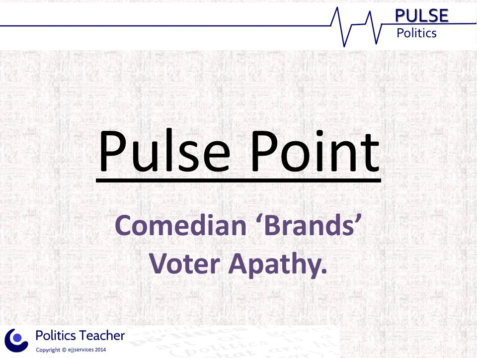 Comedian 'Brands' Voter Apathy.