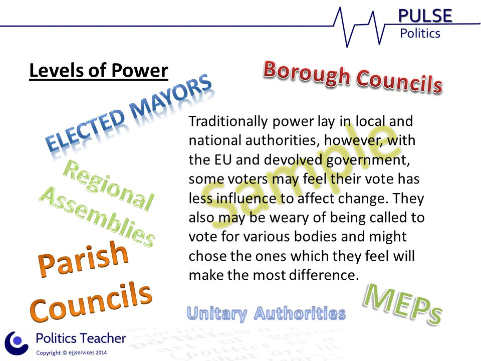 Parish Councils MEPs Regional Assemblies Borough Councils