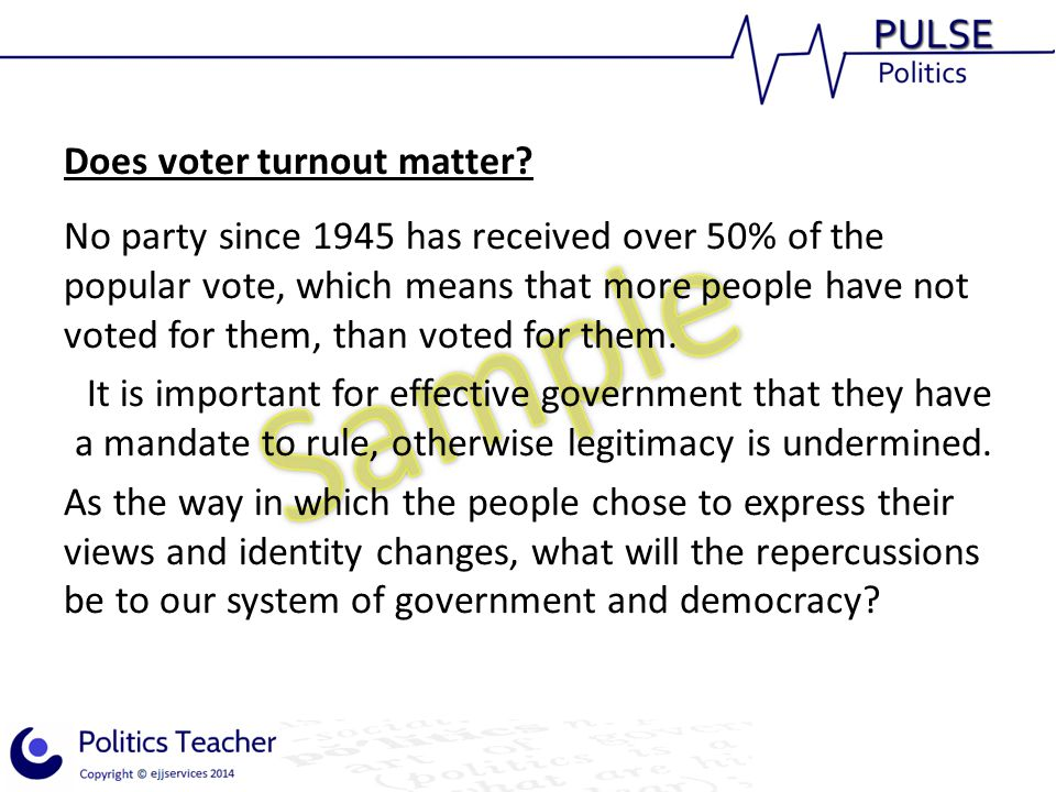 Does voter turnout matter