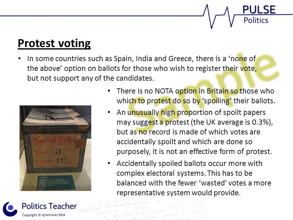 Protest voting