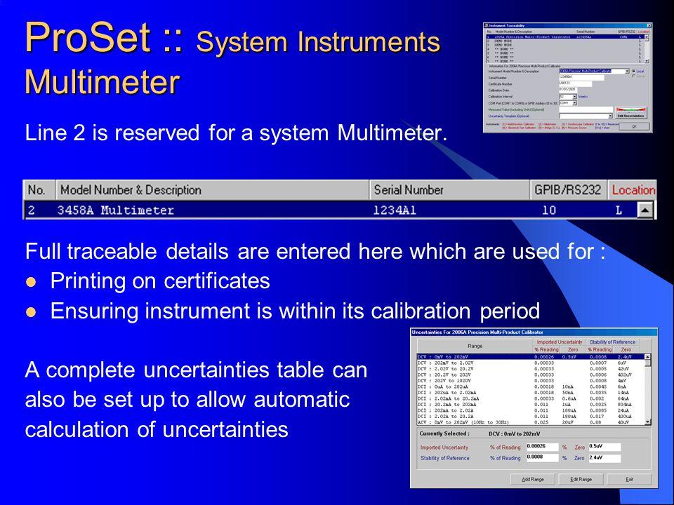 ProSet :: System Instruments Multimeter