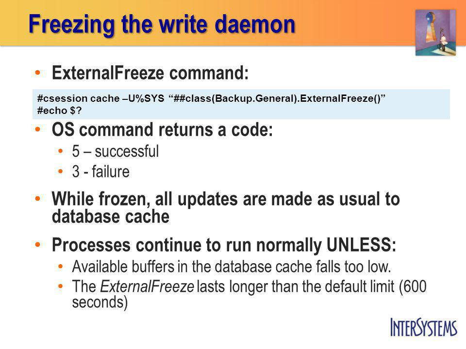 Freezing the write daemon