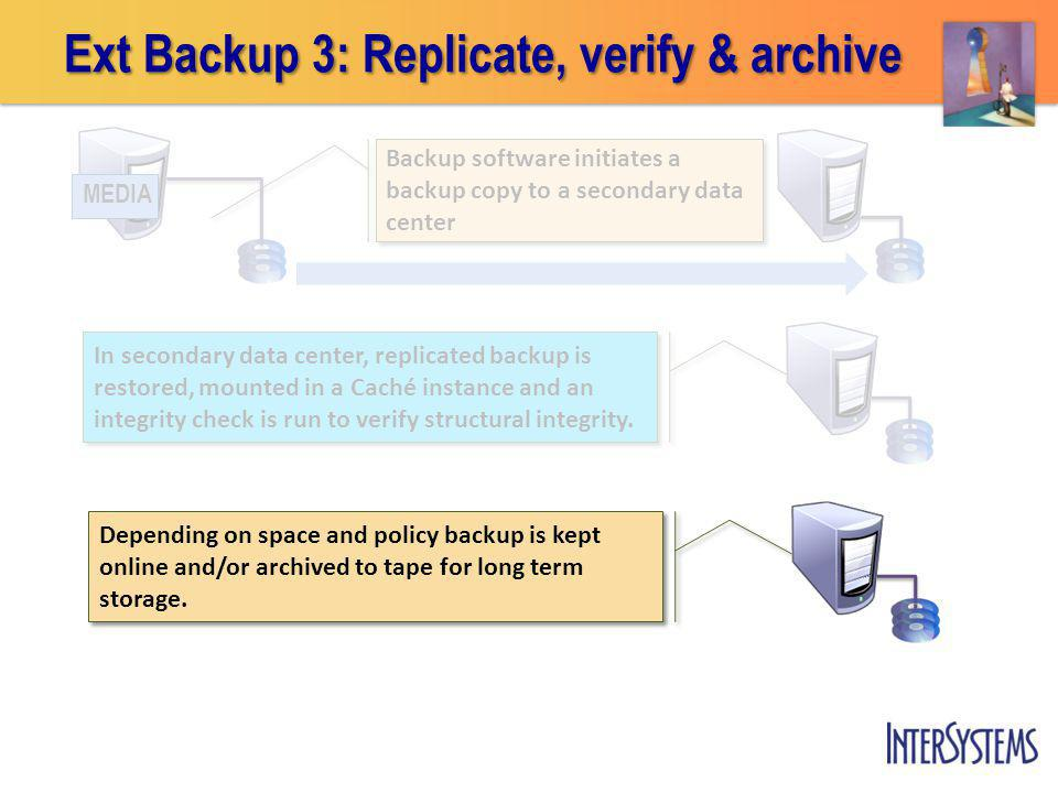 Ext Backup 3: Replicate, verify & archive