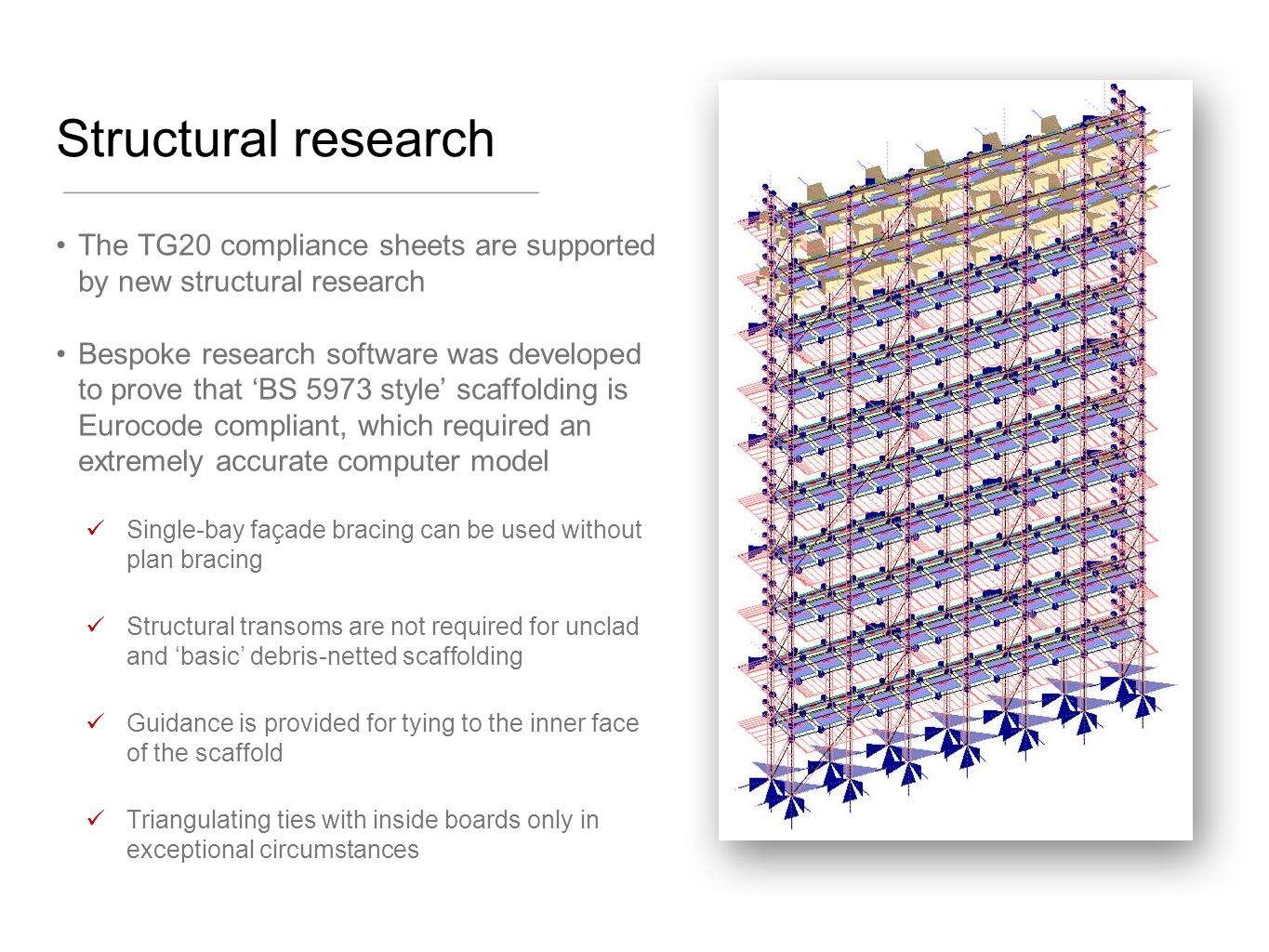 Structural research The TG20 compliance sheets are supported by new structural research.