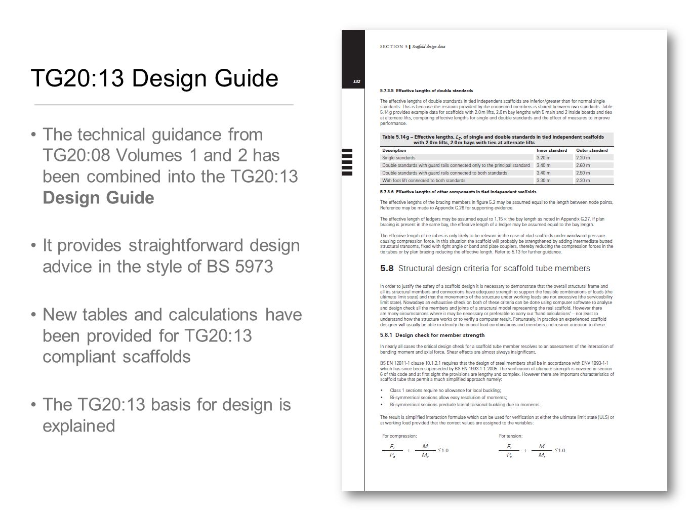 TG20:13 Design Guide The technical guidance from TG20:08 Volumes 1 and 2 has been combined into the TG20:13 Design Guide.