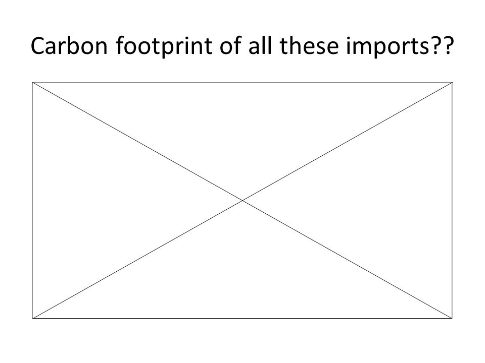 Carbon footprint of all these imports