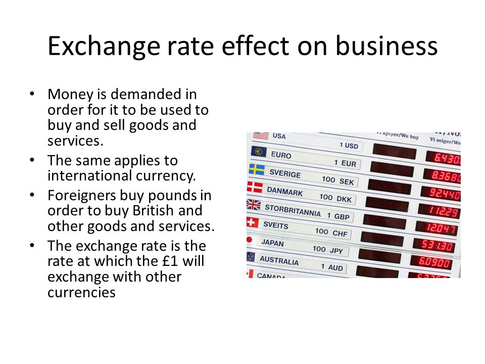 Exchange rate effect on business