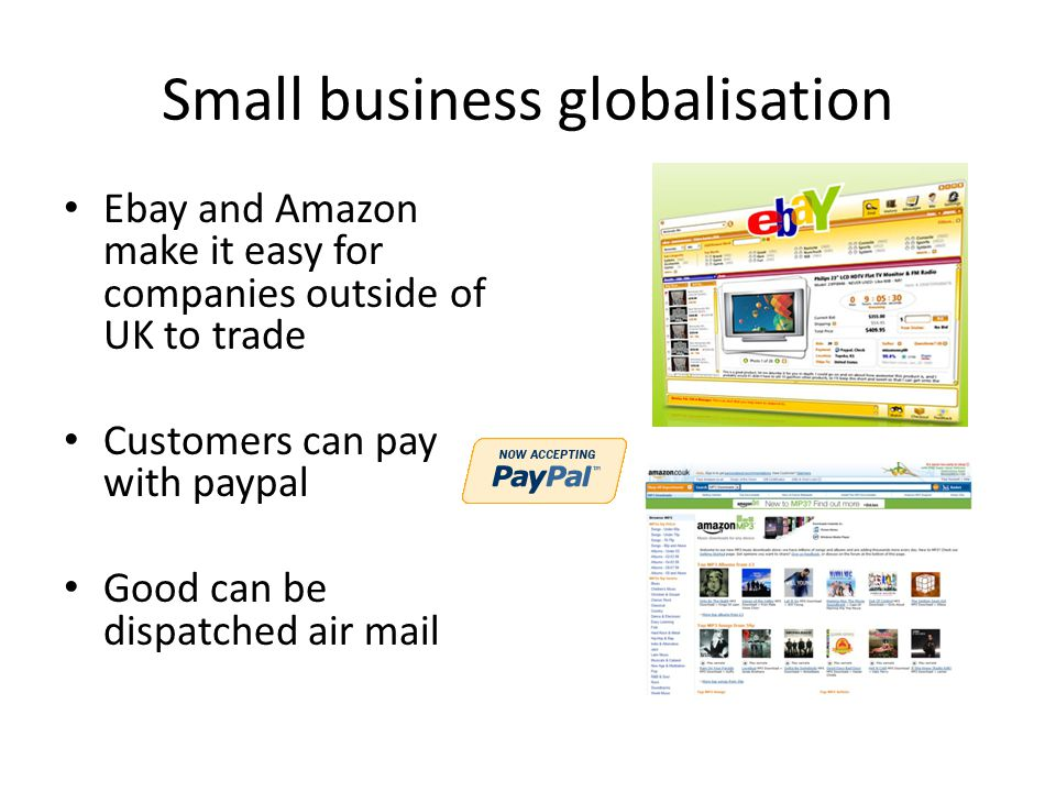 Small business globalisation