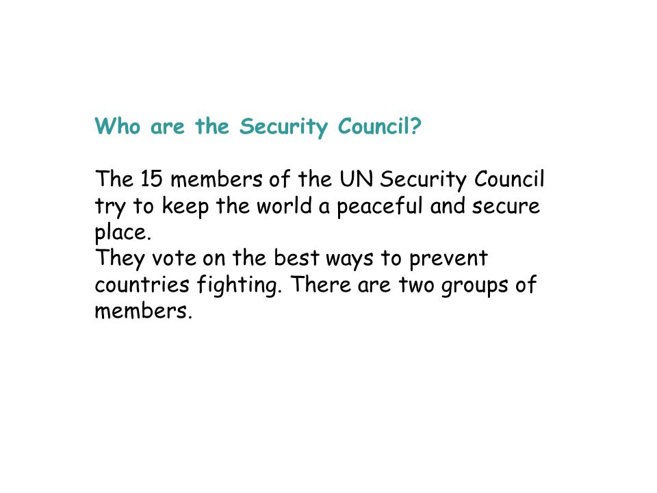 Who are the Security Council