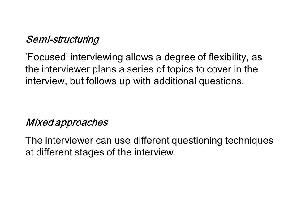 Semi-structuring