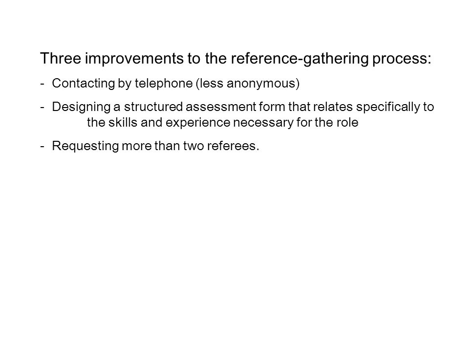 Three improvements to the reference-gathering process: