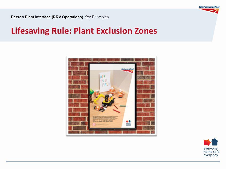 Lifesaving Rule: Plant Exclusion Zones