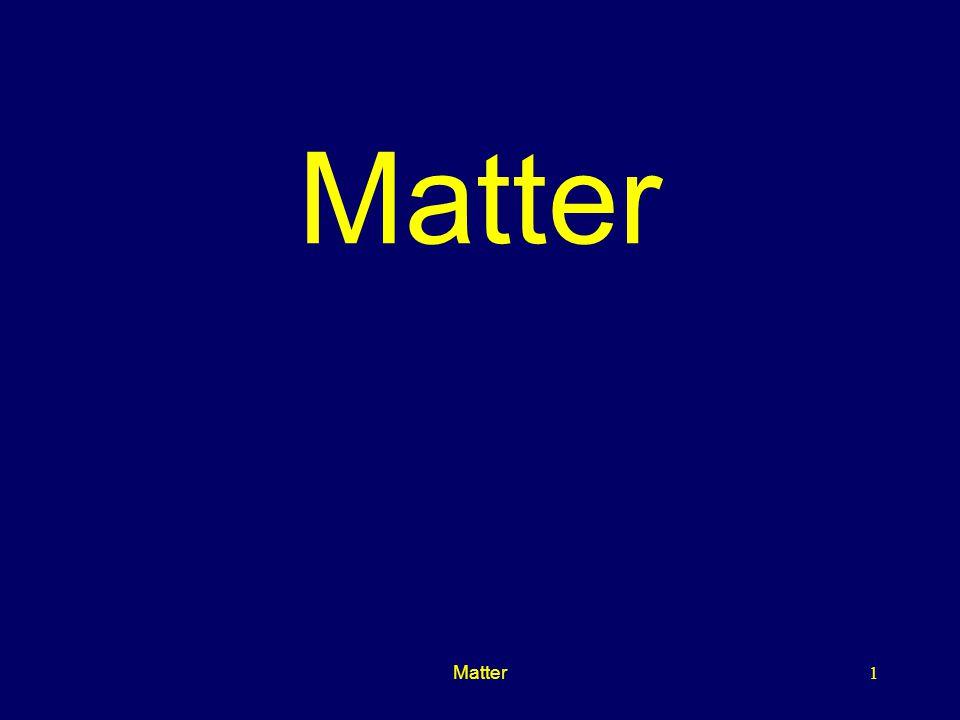 Matter Matter