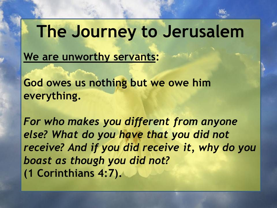 The Journey to Jerusalem