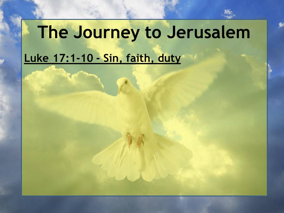 The Journey to Jerusalem